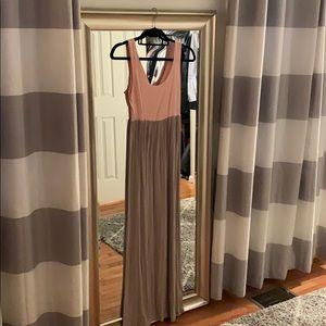 Long maxi Pinkblush maternity dress